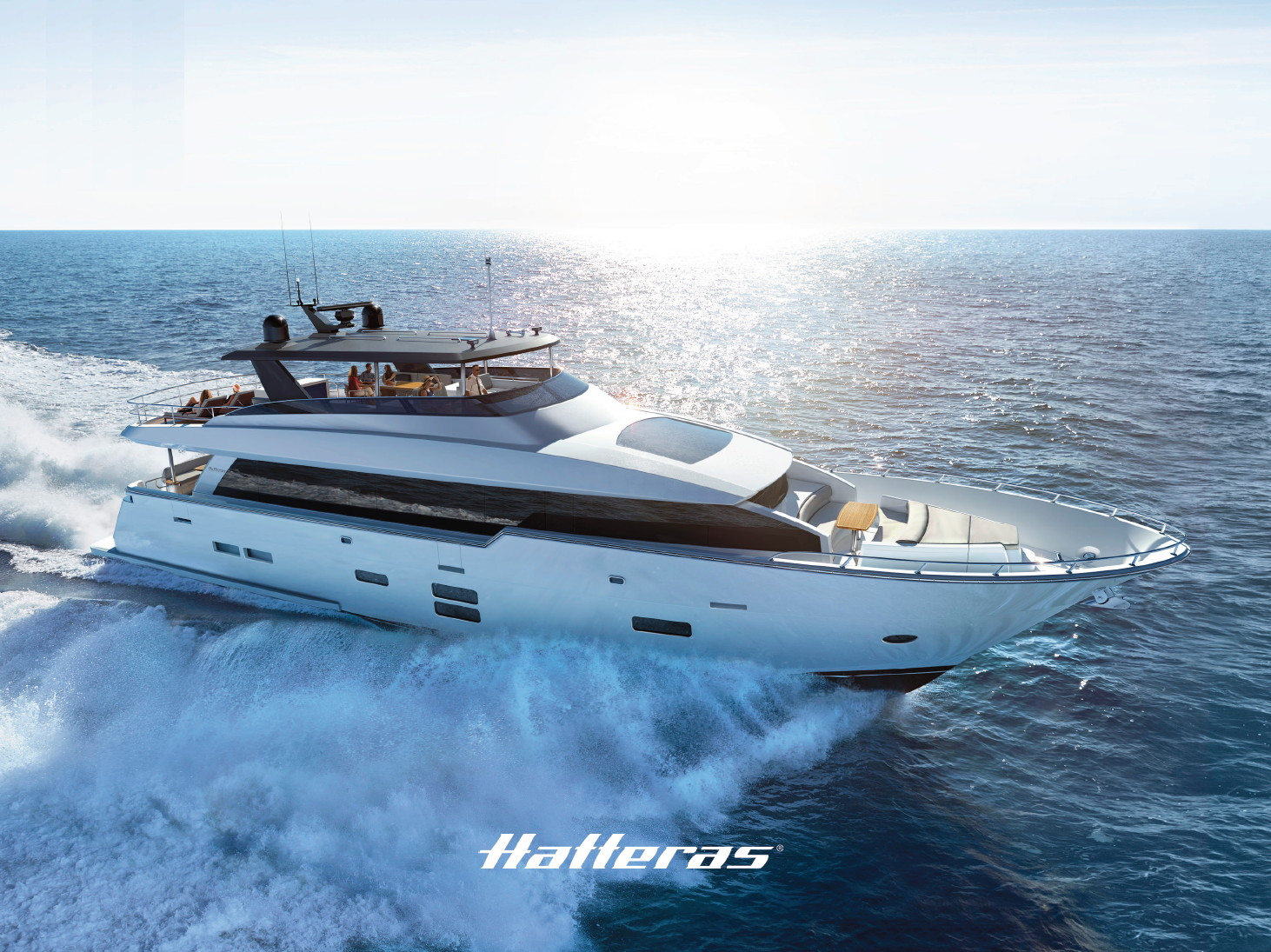 Luxury yacht for Sale | 90 Motor Yacht by Hatteras Yachts